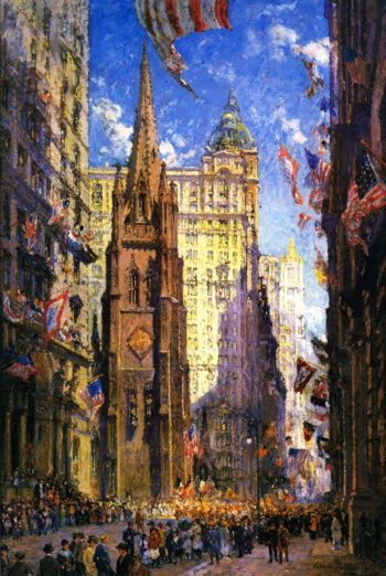The Three Towers | Colin Campbell Cooper | oil painting