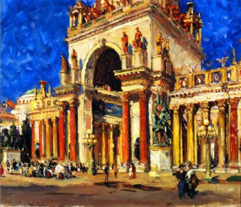 Tower of Jewels Panama Pacific International Exposition | Colin Campbell Cooper | oil painting