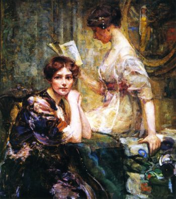 Two Women | Colin Campbell Cooper | oil painting