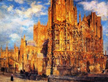 Wells Cathedral | Colin Campbell Cooper | oil painting