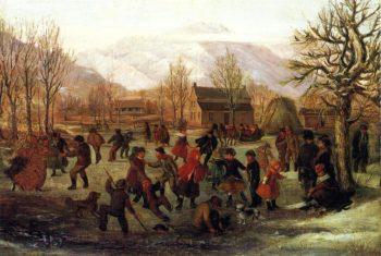 The Skating Pond | Danquart Anton Weggeland | oil painting