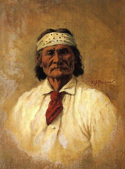 Geronimo | Edgar Samuel Paxson | oil painting