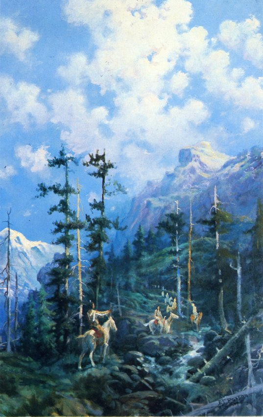 On Lolo Trail | Edgar Samuel Paxson | oil painting
