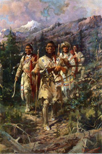 Seeking the White Mans Book | Edgar Samuel Paxson | oil painting