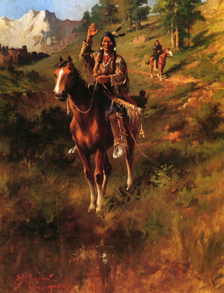 Sign of Peace | Edgar Samuel Paxson | oil painting