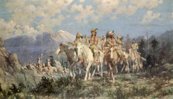The Pipe of Peace from This Day Forth I Will Fight No More | Edgar Samuel Paxson | oil painting