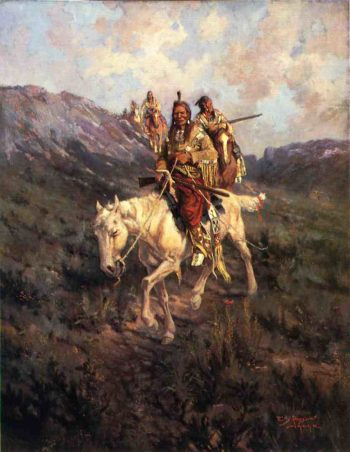 Visit to Another Tribe | Edgar Samuel Paxson | oil painting