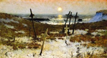 Repose Brittany Burial Ground | Edward L Espey | oil painting