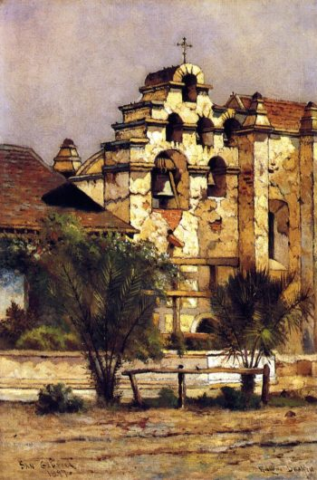San Gabriel Mission Bell Tower | Edwin Deakin | oil painting