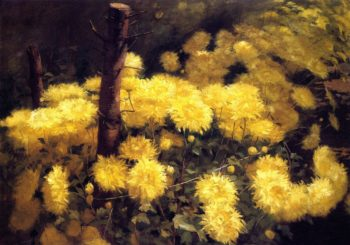Chrysanthemums | Fannie Eliza Duvall | oil painting