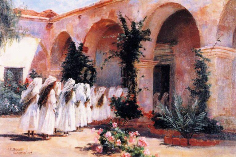 First Communion San Juan Capistrano   Fannie Eliza Duvall   oil painting