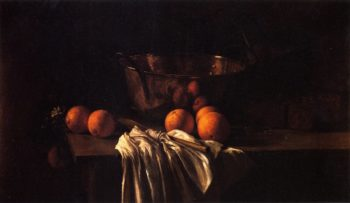 Still LIfe with Oranges and Marmalade | Fannie Eliza Duvall | oil painting