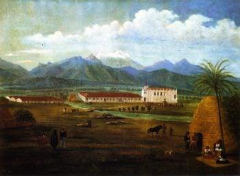 San Gabriel Mission | Ferdinand Deppe | oil painting