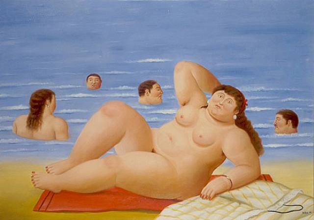 Banistas | Fernando Botero | oil painting