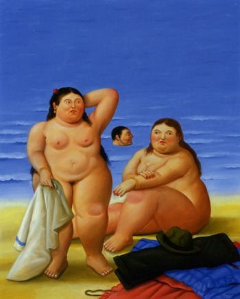 Bathers | Fernando Botero | oil painting