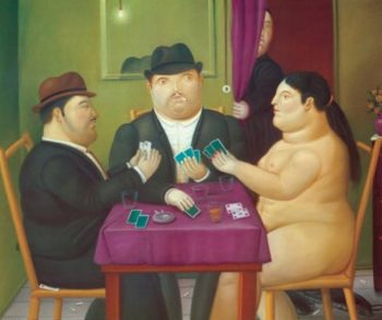 Card Players | Fernando Botero | oil painting