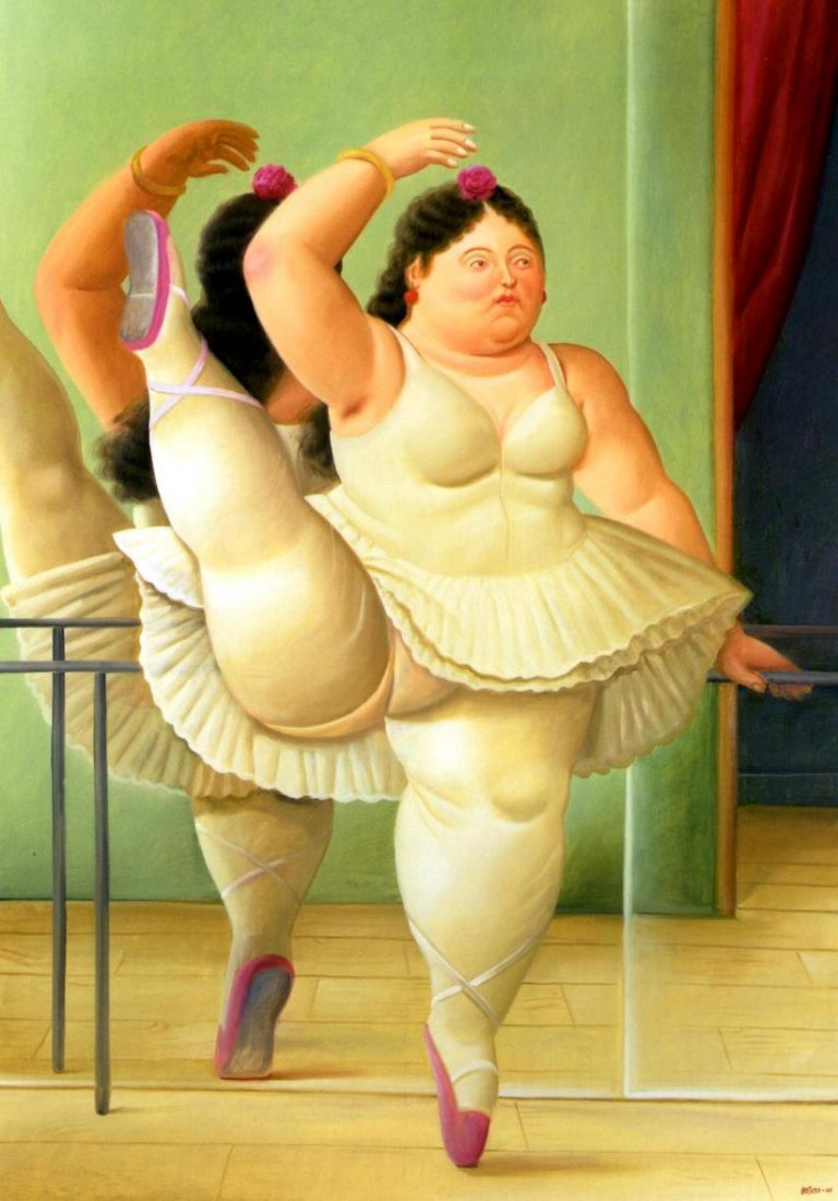 Dancer at the Barre   Fernando Botero   oil painting