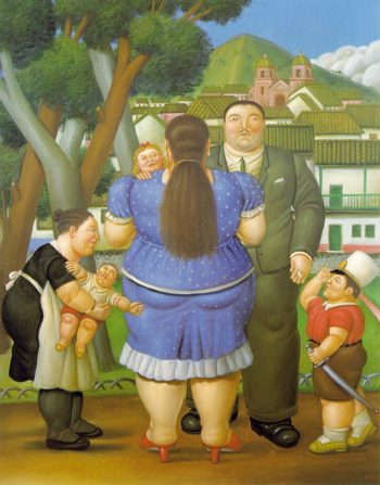 Family | Fernando Botero | oil painting