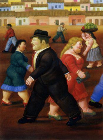 La plaza | Fernando Botero | oil painting