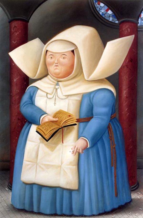 Nun   Fernando Botero   oil painting
