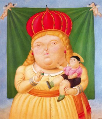 Our Lady of Colombia | Fernando Botero | oil painting