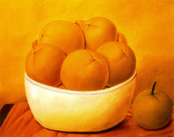 Still Life with Fruit | Fernando Botero | oil painting