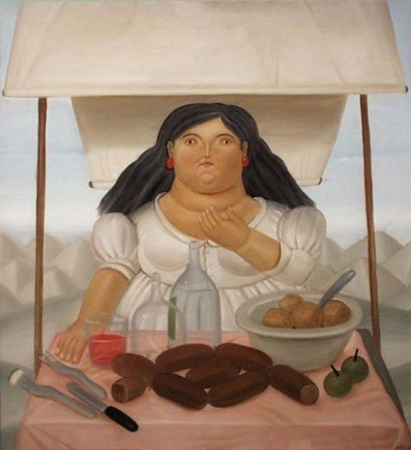 The Roadside Vendor | Fernando Botero | oil painting