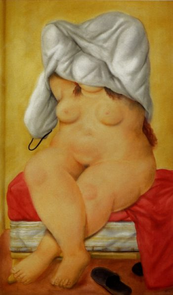 Woman Undressing | Fernando Botero | oil painting