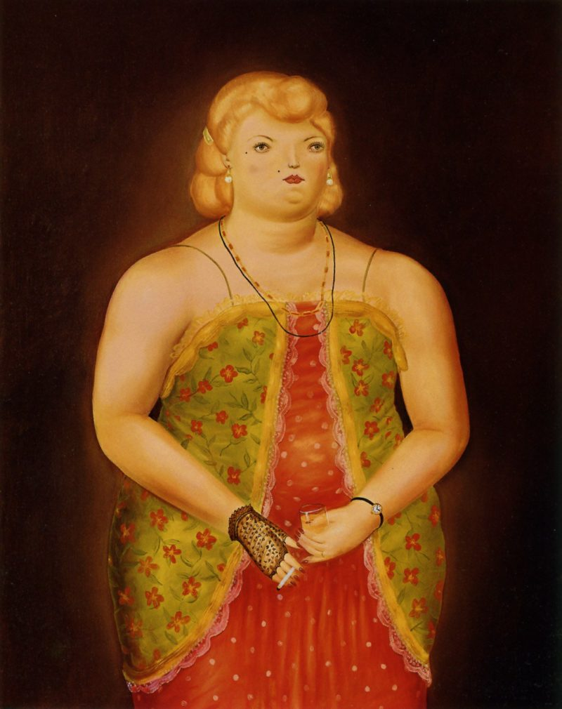 Woman   Fernando Botero   oil painting