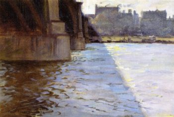 The Shadow of the Bridge | Frederick Oaks Sylvester | oil painting