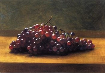 Grapes on a Tabletop | George Henry Hall | oil painting