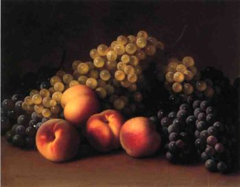 Peaches and Grapes | George Henry Hall | oil painting