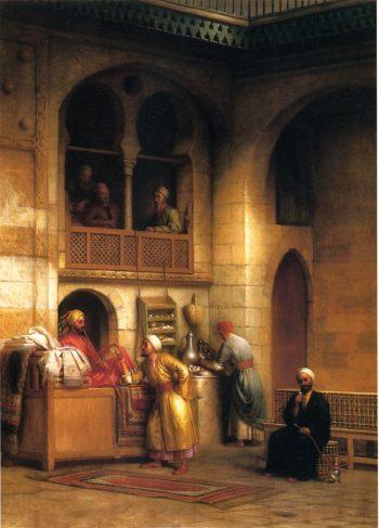 Rug Bazaar Cairo | George Henry Hall | oil painting