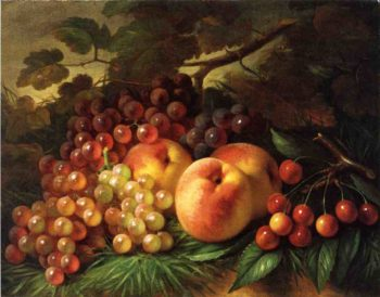 Still Life with Peaches and Grapes | George Henry Hall | oil painting