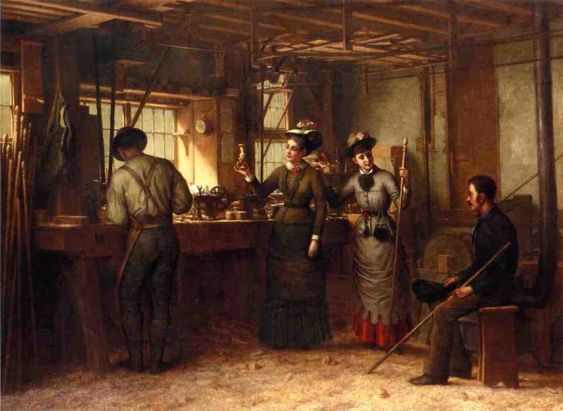The Turners Shop Palensville Catskill Mountains | George Henry Hall | oil painting