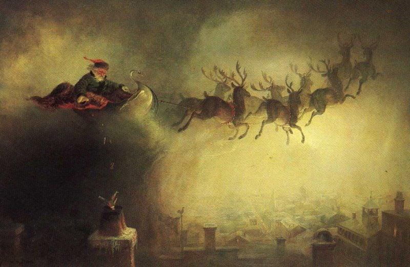 Santa Claus (greyish coloring) | William Holbrook Beard | oil painting