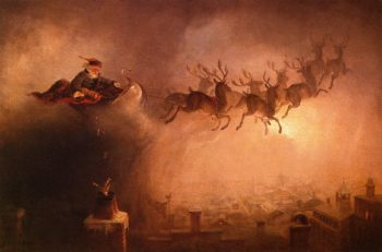 Santa Claus (redish coloring) | William Holbrook Beard | oil painting