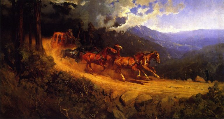 Running Out the Storm | Gutzon Borglum | oil painting