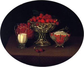 Still LIfe with Strawberries | Hannah Brown Skeele | oil painting