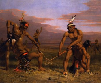 Sioux Playing Ball | Charles Deas | oil painting