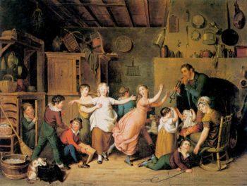 Blind Mans Bluff | John Ludwig Krimmel | oil painting