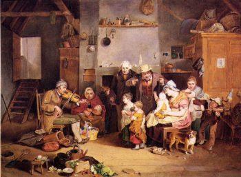 The Blind Fiddler | John Ludwig Krimmel | oil painting