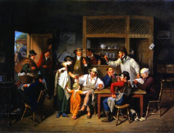 Village Tavern | John Ludwig Krimmel | oil painting