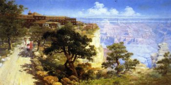 El Tovar Hotel Grand Canyon   Louis Akin   oil painting