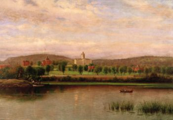 Augustana College in the 1890s | Olof Grafstrom | oil painting