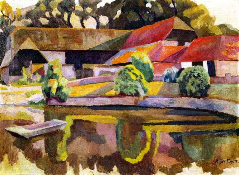 Barns and Pond Charleston | Roger Fry | oil painting