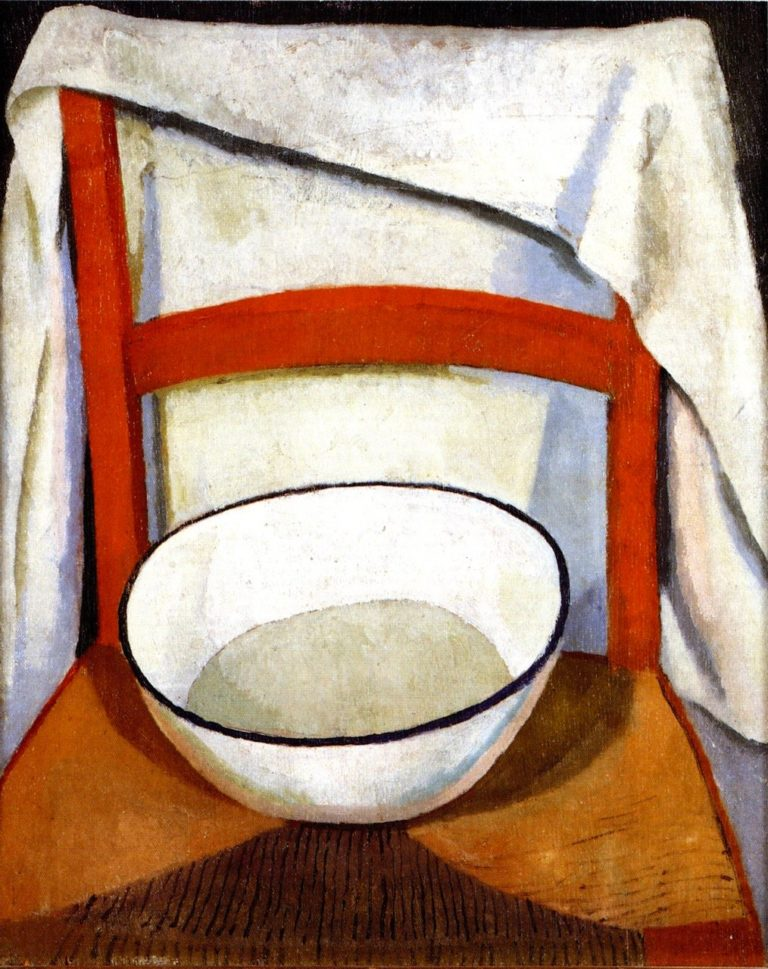 Chair with Bowl and Towel | Roger Fry | oil painting