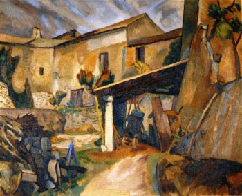 Farm buildings France | Roger Fry | oil painting