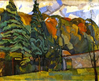Landscape at Asheham | Roger Fry | oil painting