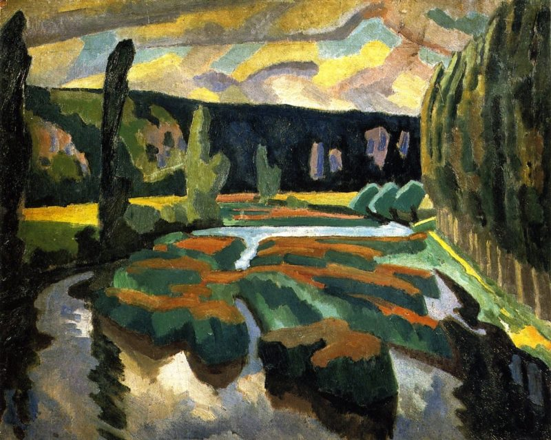 River with Poplars | Roger Fry | oil painting